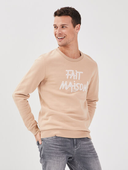 Sweat eco responsable sable homme