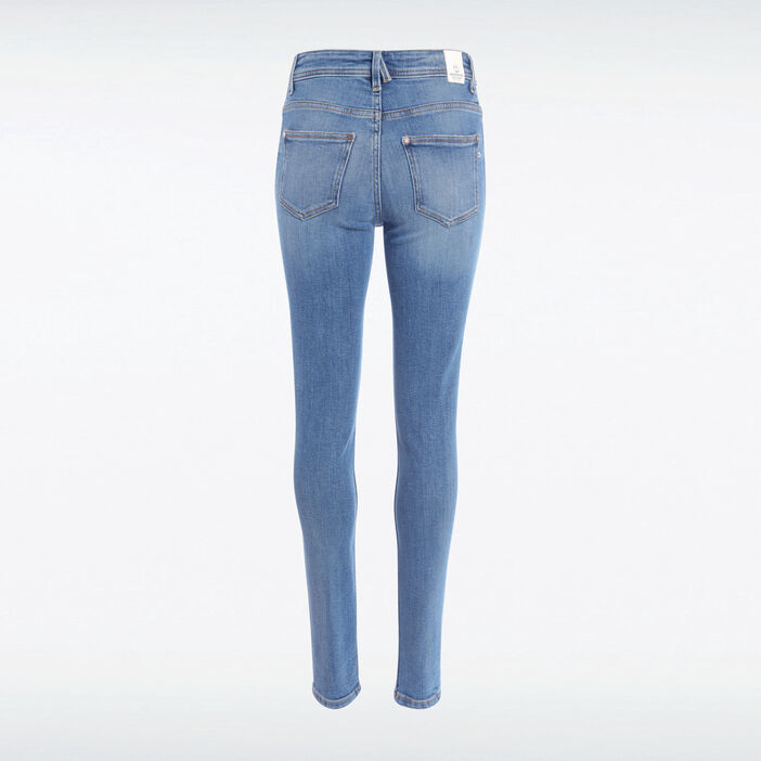 Jeans skinny 5 poches denim used femme