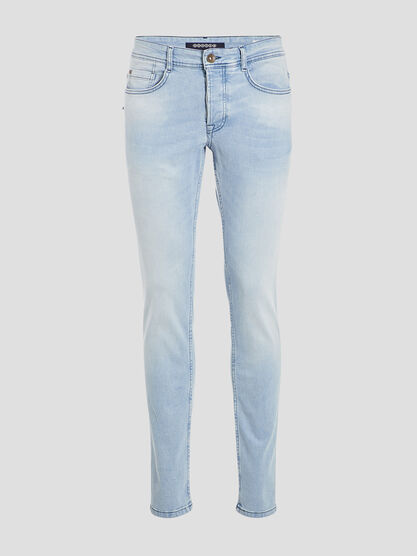 Jeans slim denim bleach homme