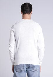 Pull Instinct manches longues ecru homme