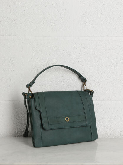 Sac bandoulliere vert fonce femme