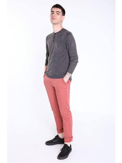 Pantalon chino regular Instinct vieux rose homme