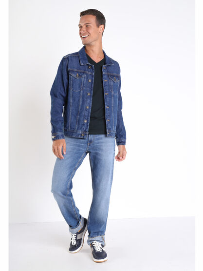 Jeans regular used denim used homme