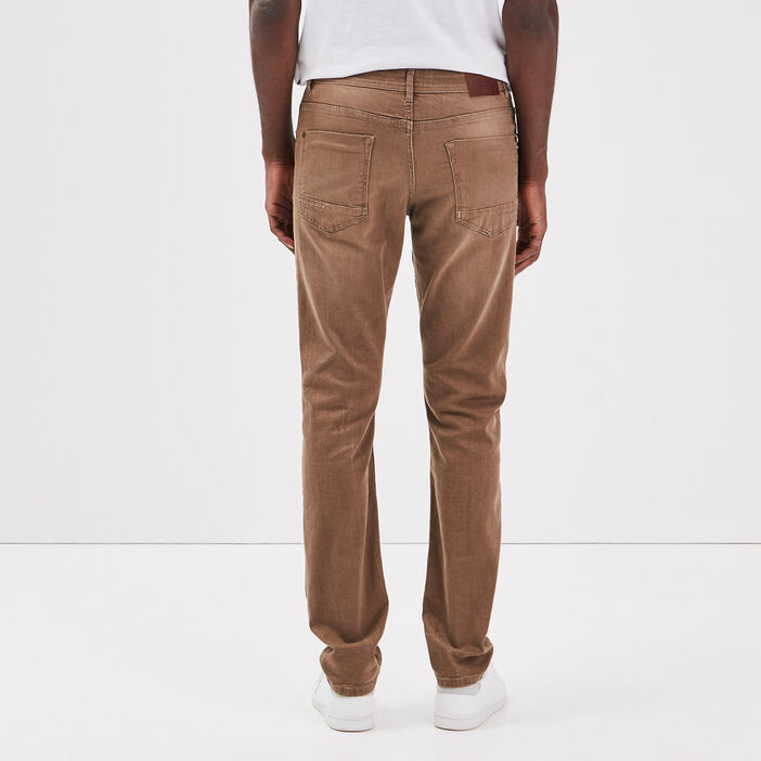 Jeans straight beige homme