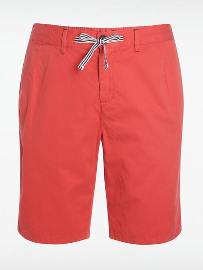 short court homme a cordons rayes rouge