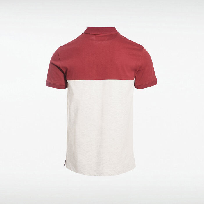 Polo éco-responsable bordeaux homme