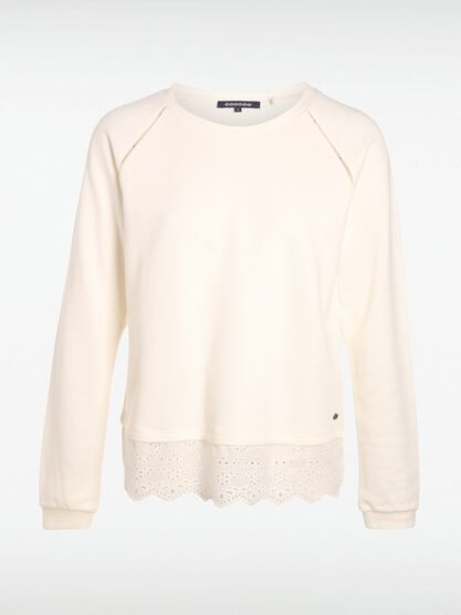 sweat broderie blanc