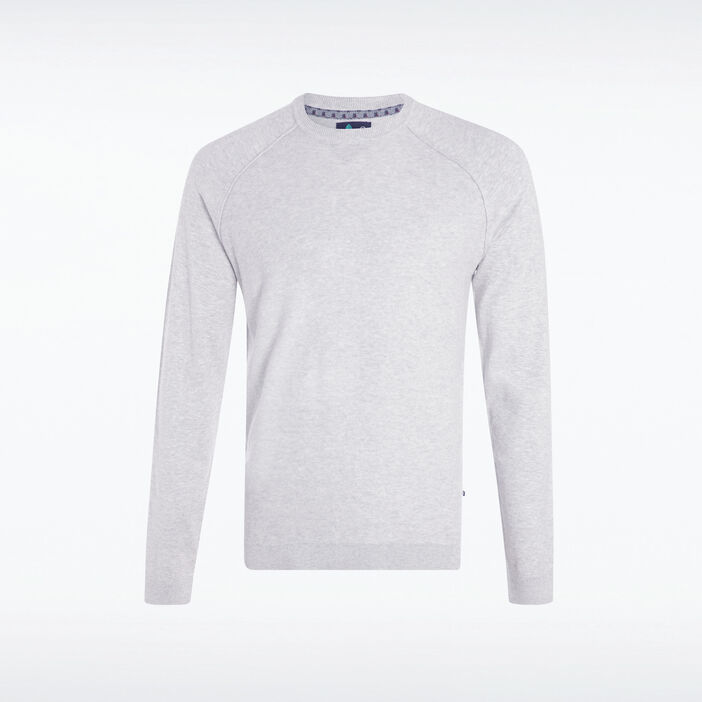 Pull manches longues Instinct gris clair homme