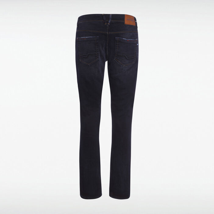 Jeans bootcut 5 poches used denim noir homme