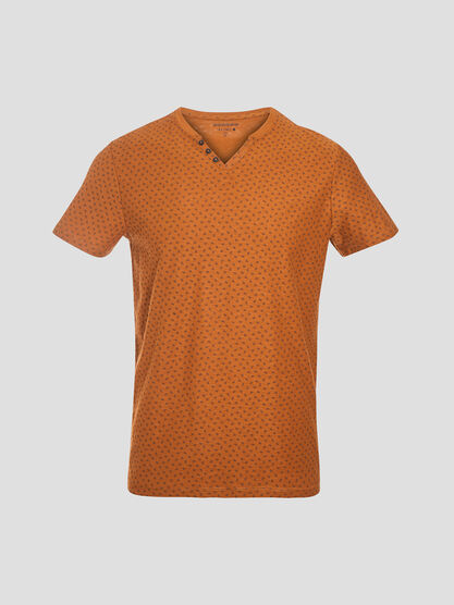 T shirt eco responsable marron homme