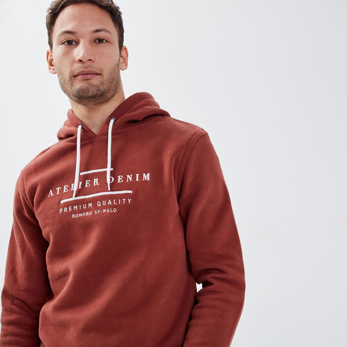Sweat manches longues prune homme
