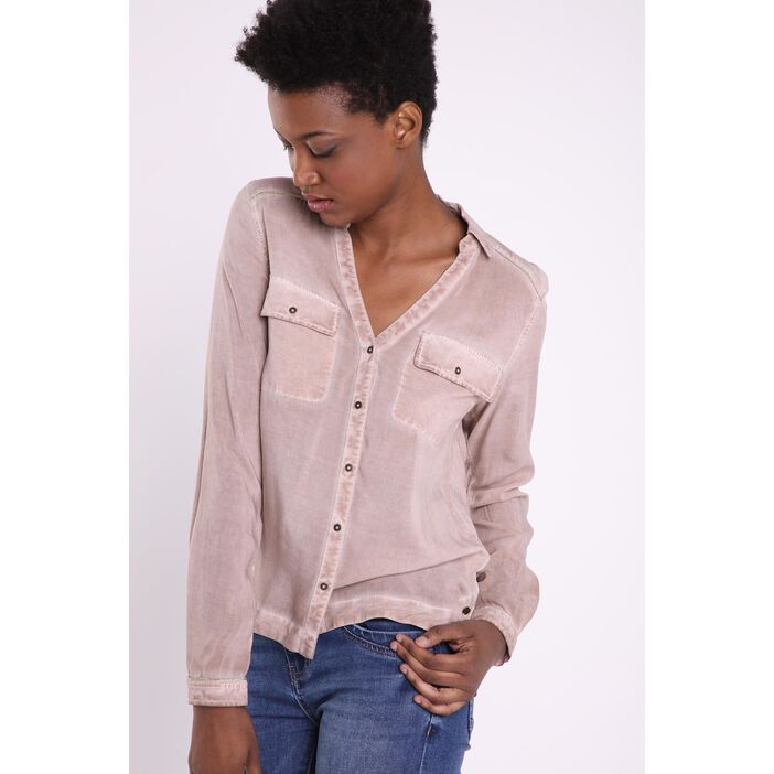 Chemise manches longues TAUPE