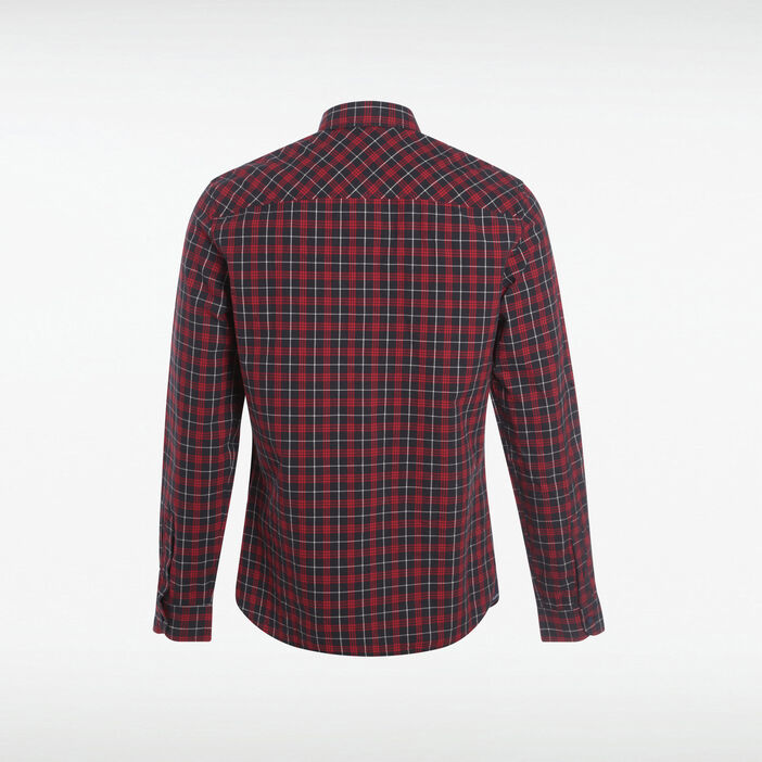 Chemise manches longues rouge homme