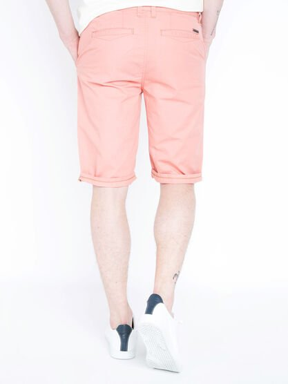 Bermuda chino droit coton rose homme