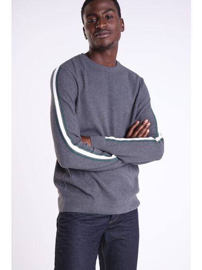 pull manches longues homme instinct gris