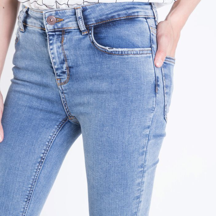 Jeans skinny femme used 5 poches DENIM BLEACH