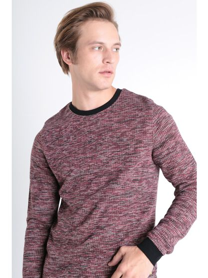 Sweat manches longues rouge fonce homme