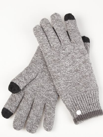 gants maille chinee tactile homme gris
