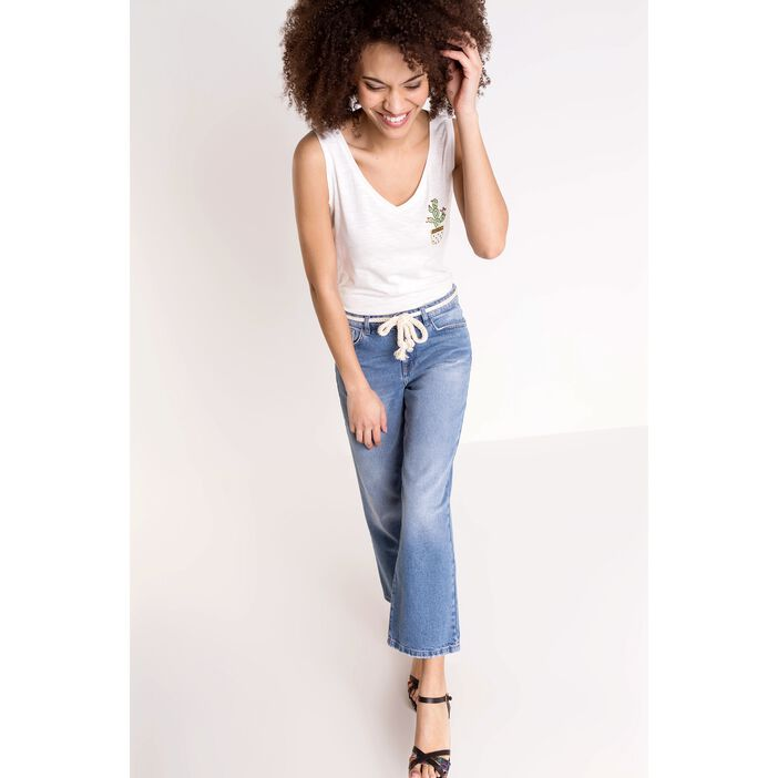 Jeans flare femme taille haute used DENIM STONE