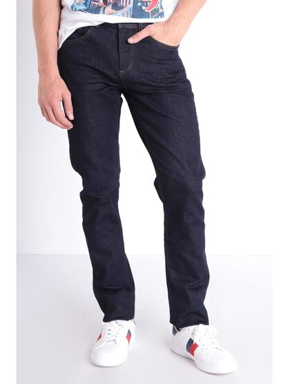 Jeans straight 5 poches denim brut homme