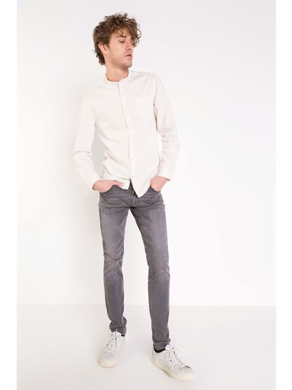 jeans skinny homme used l32 denim snow gris