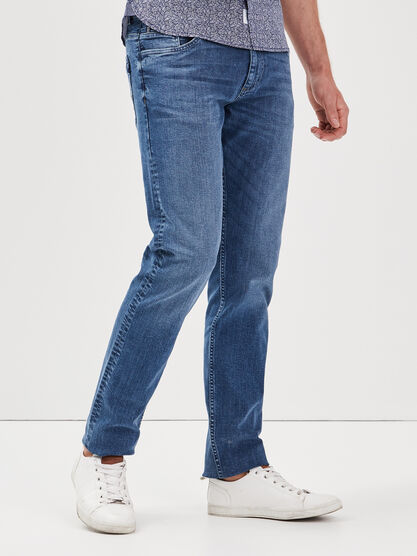 Jeans straight L34 Instinct denim double stone homme