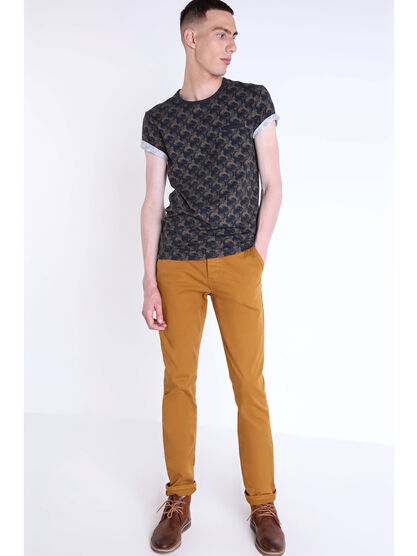 Pantalon chino regular Instinct camel homme