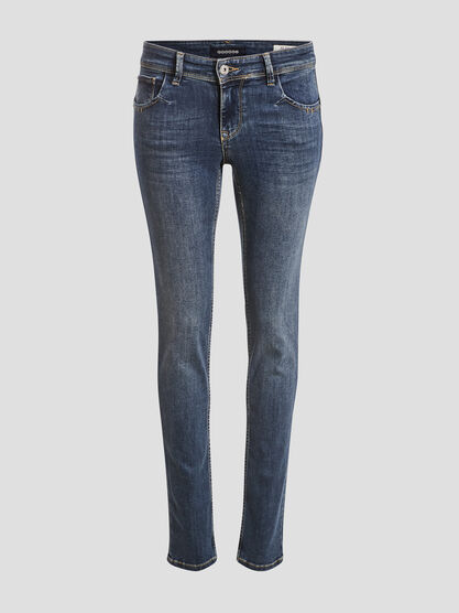 Jeans slim effet push up denim stone femme