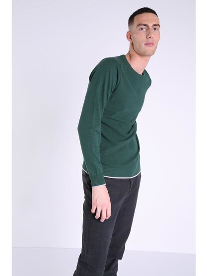 pull col rond homme instinct marron fonce