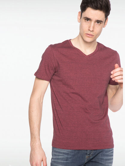 T shirt manches courtes rouge clair homme