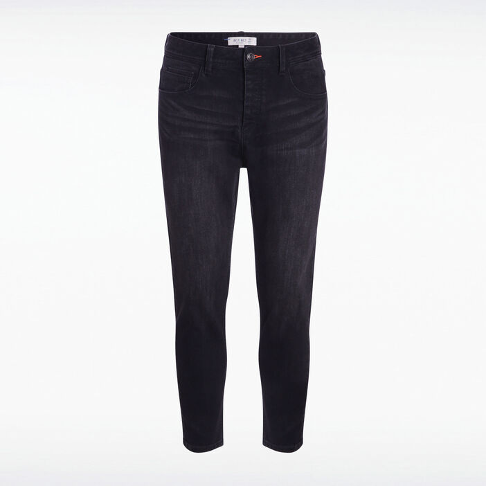 Jeans chino 7/8 used denim noir homme