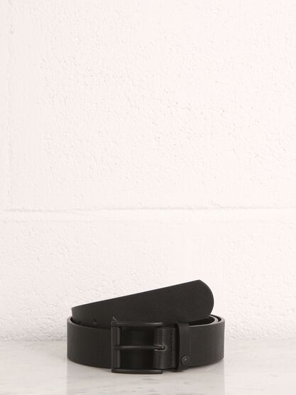 ceinture perforations design noir
