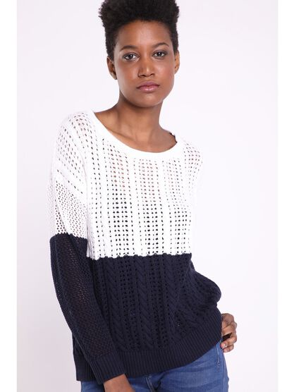 Pull manches longues Instinct blanc femme