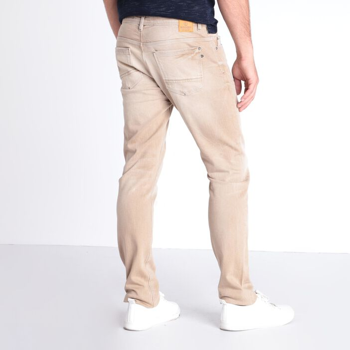 Jean straight marron clair homme