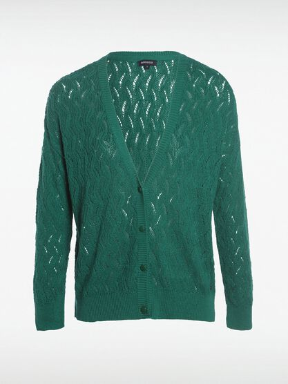 gilet manches longues boutonne vert turquoise