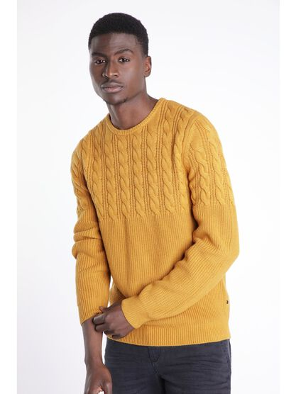 pull manches longues ajuste camel