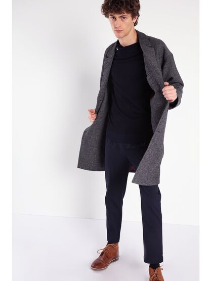 manteau mi long instinct gris fonce