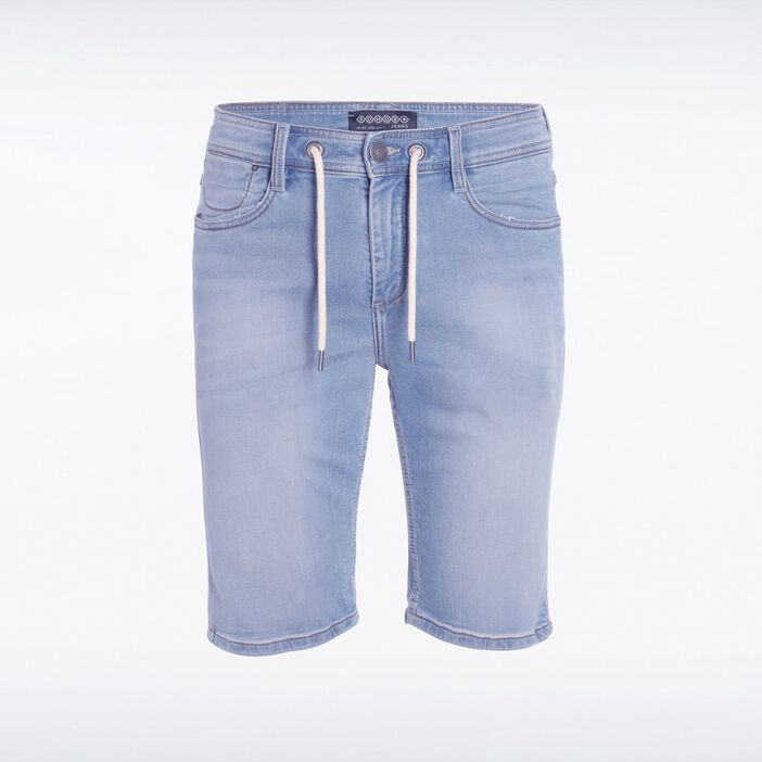 Bermuda coupe droite homme effet used DENIM BLEACH
