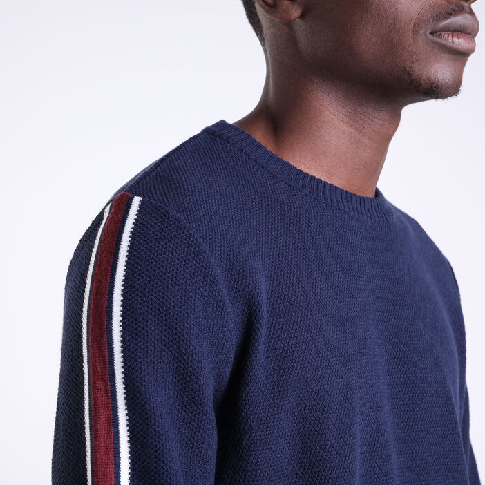 Pull manches longues Instinct bleu marine homme