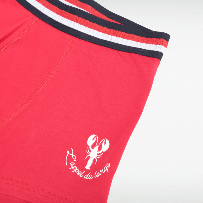 Boxer rouge homme