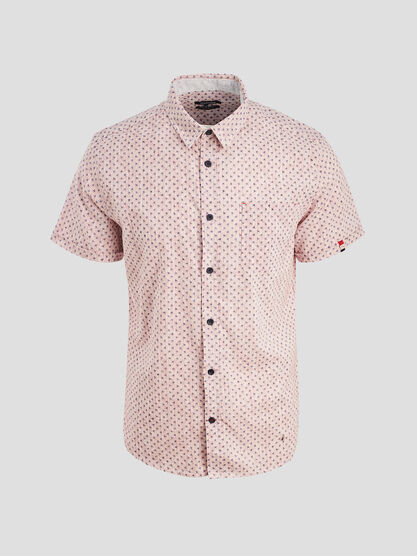 Chemise manches courtes rouge homme