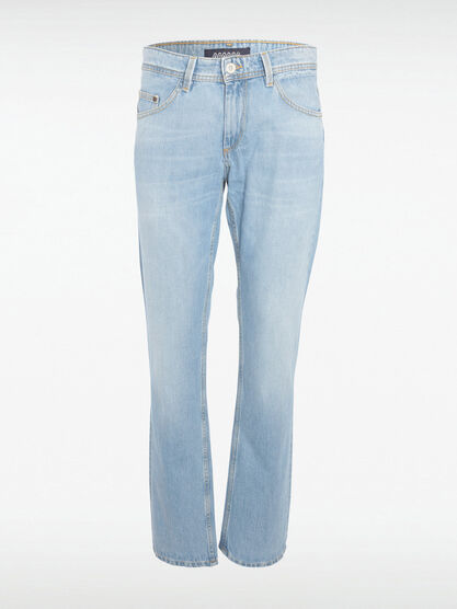 Jeans regular used denim bleach homme
