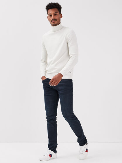 Jeans slim eco responsable denim blue black homme