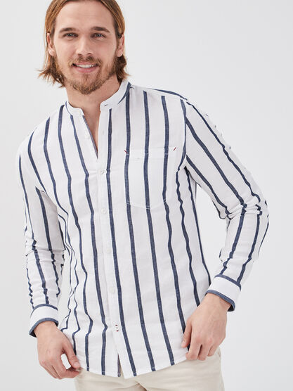 Chemise eco reponsable blanc homme