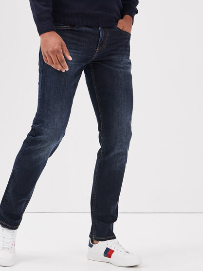 Jeans straight eco responsable denim brut homme