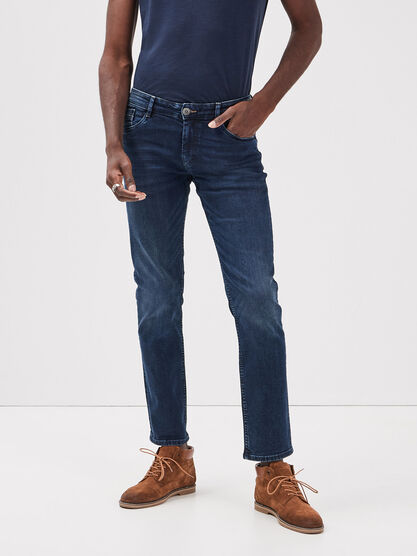 Jeans straight L32 Instinct denim stone homme
