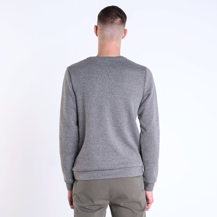 Tricot coupe droite homme col rond GRIS