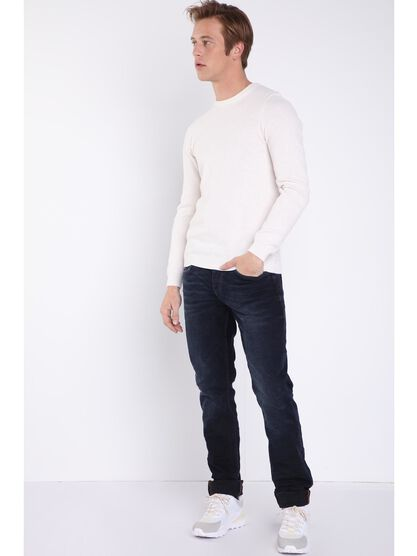 Jeans 5 poches used denim noir homme