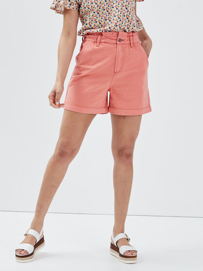 Short slouchy eco responsable rose corail femme