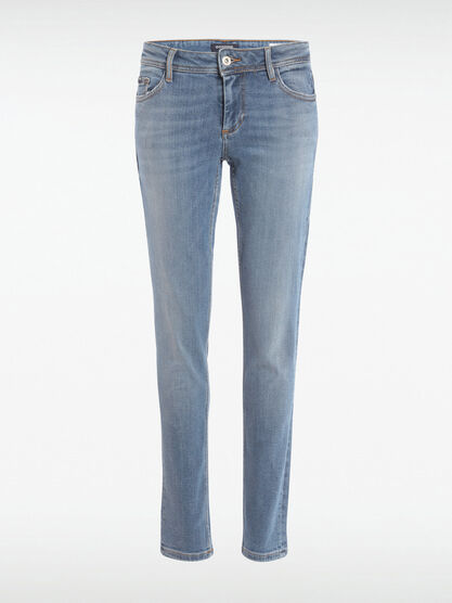 Jeans slim 5 poches denim used femme